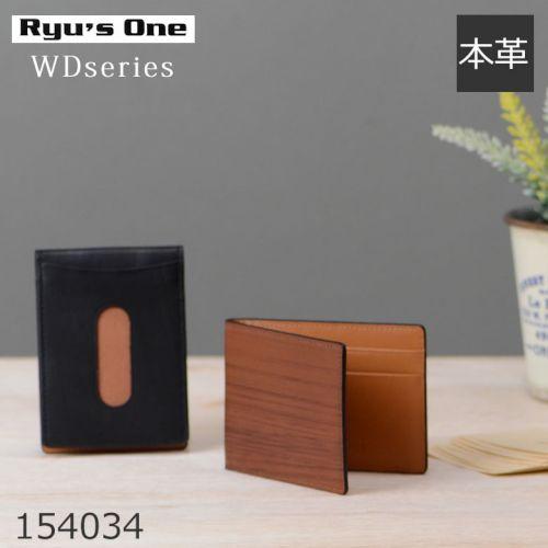 Ryu's one 木目調レザー 定期入れ icカード
