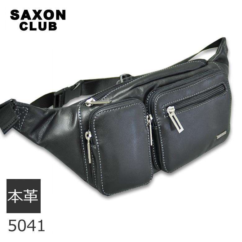 saxon サクソン 本革ウエストバッグ